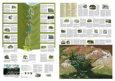 Mapa-folleto para el Ayuntamiento de Canfranc