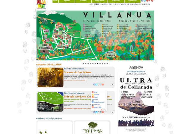 Web de Turismo Villanúa: diseño a medida
