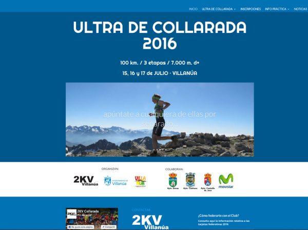 Web del 2KV Villanúa y la Ultra Collarada