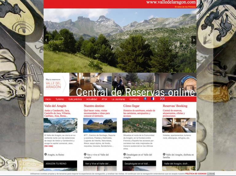 Web de la Asociación Turística del Valle del Aragón: responsive