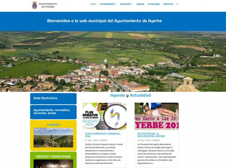 Web del Ayuntamiento de Ayerbe
