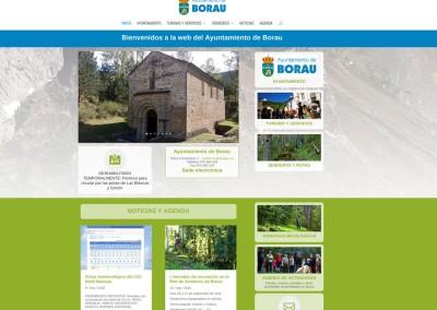 Web del Ayuntamiento de Borau