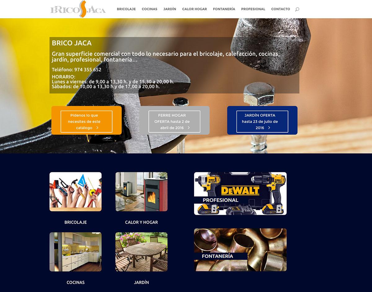 Web empresarial BRICO JACA
