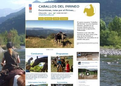 """Web del centro ecuestre """"Caballos del Pirineo"""""""