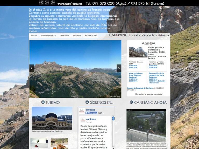 Renovación de la web del Ayuntamiento de Canfranc