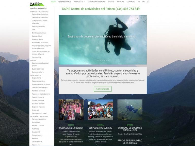 Nueva web de CAPIR: Central de Actividades del Pirineo