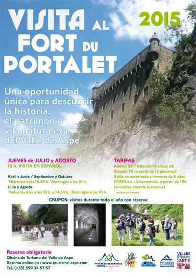 """""""Visitas al Portalet"""", cartelería bilingüe para Tourisme Aspe"""