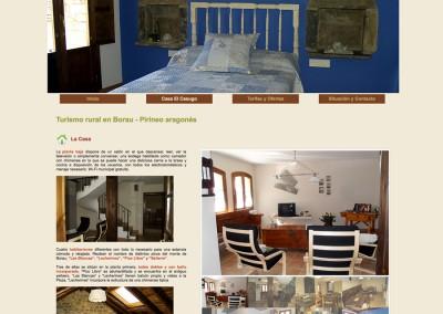 Web Casa Rural El Casugo en Borau