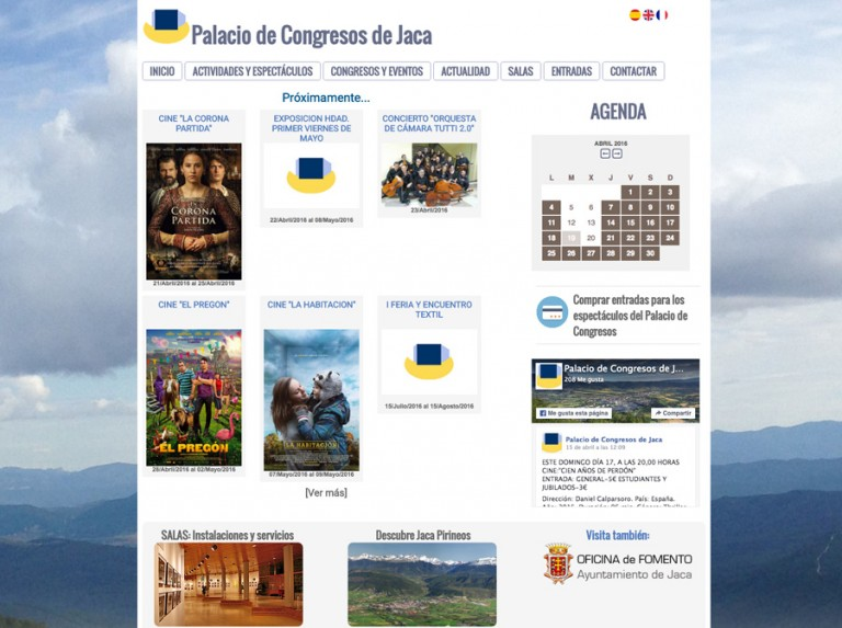 Web del Palacio de Congresos de Jaca: renovada y responsive