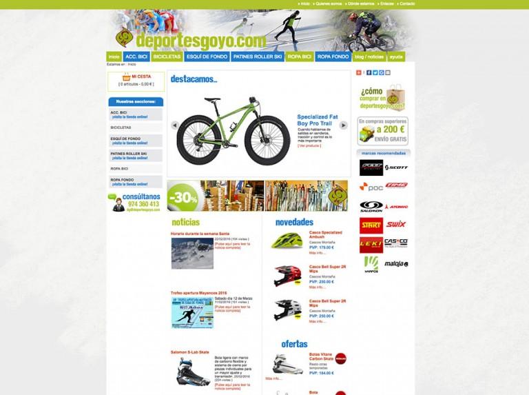 Tienda online de Deportes Goyo de Jaca