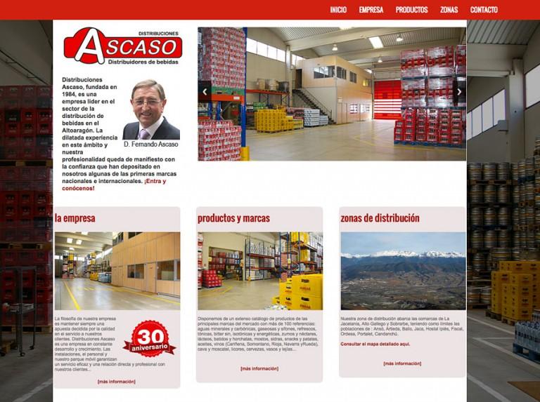 Web de Distribuciones Ascaso en Jaca