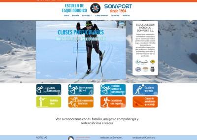 Web de la Escuela de Esquí nórdico Somport
