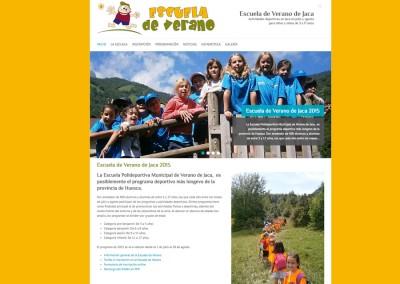 Web de la Escuela de Verano de Jaca