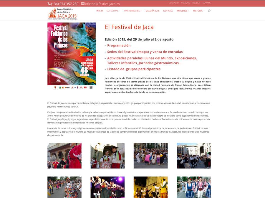 Web del Festival Folklórico de Jaca