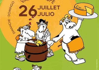 Diseño de material promocional para la Fête du Fromage de Etsaut