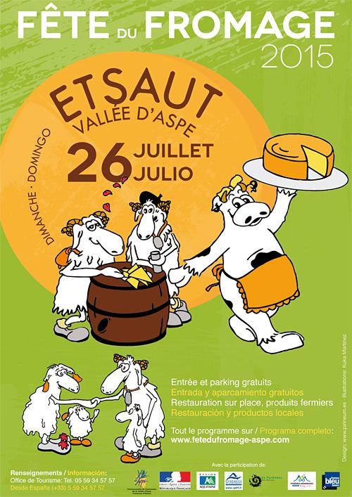Material promocional para la Fête du Fromage de Etsaut (Vallée d'Aspe)