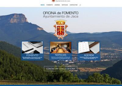 Web de la Oficina de Fomento del Ayto. de Jaca