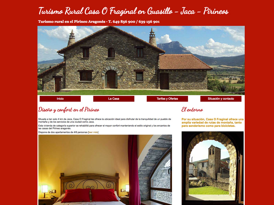 Web de Turismo Rural en Guasillo : Casa O Fraginal y Casa Casbas