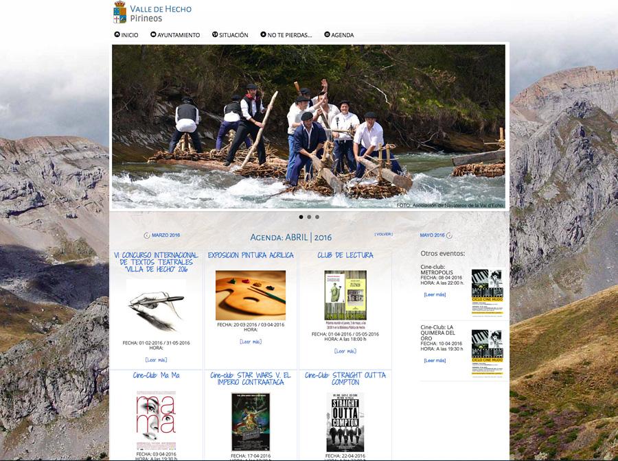 Web turística y municipal del Ayuntamiento de Hecho