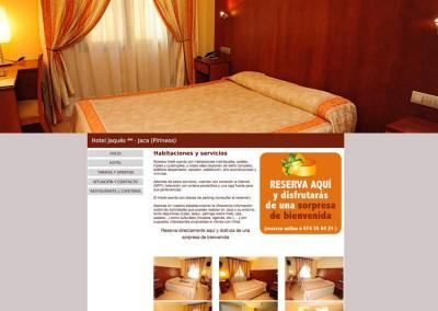 Web del Hotel y Restaurante Jaqués