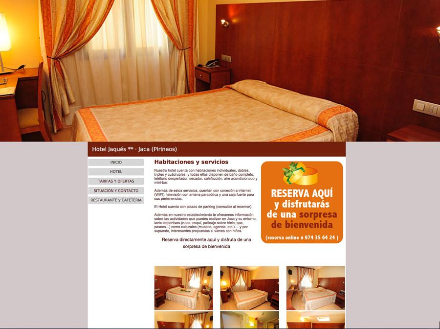 Web del Hotel y Restaurante Jaqués en www.jacahotel.com