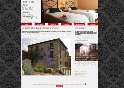 Web de la casa rural Lagar de Palacio