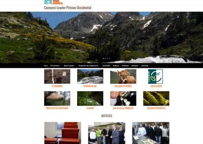 Web del Consorci Leader Pirineu Occidental