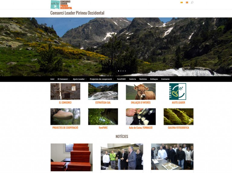 Web del Consorci Leader Pirineu Occidental