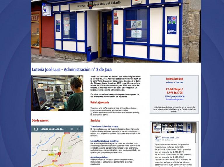 Web de Loterías José Luis en Jaca
