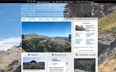 El sitio web de Canfranc (www.canfranc.es) se renueva