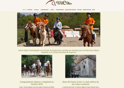 Web de Pirineo Ecuestre en WordPress