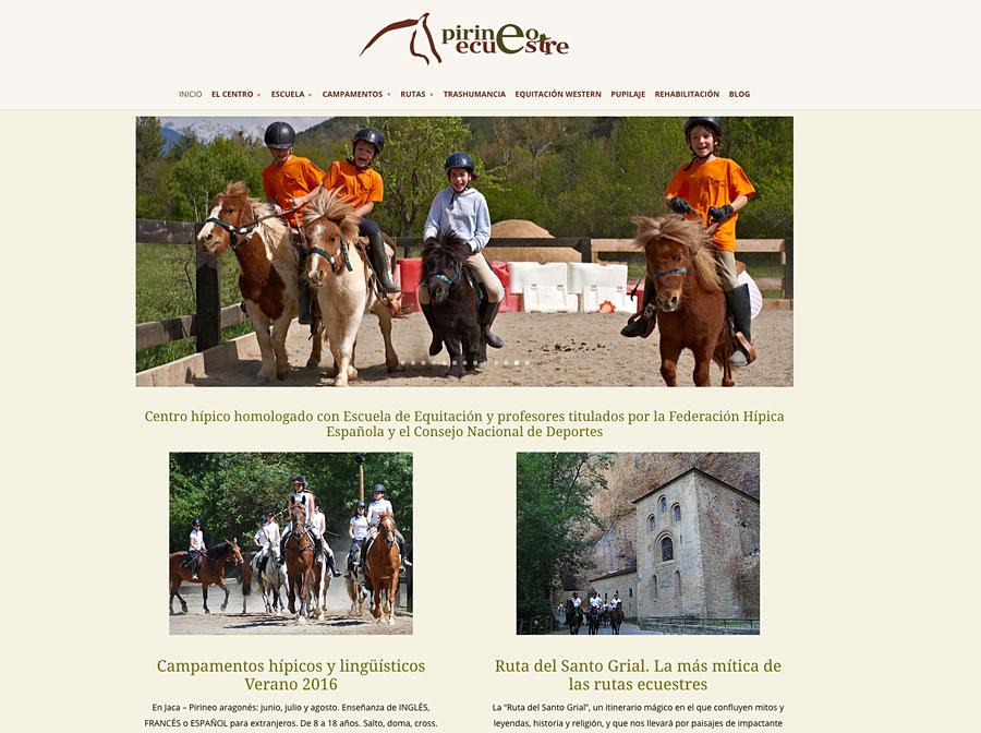 Web de Pirineo Ecuestre en WordPress