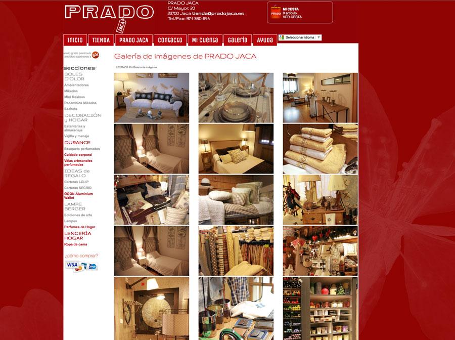 Tienda online PRADO Jaca Responsive