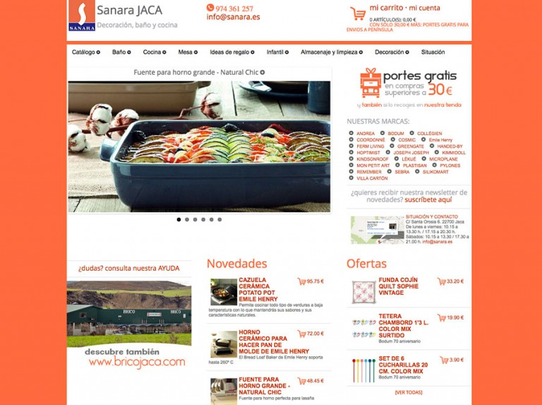 Tienda online SANARA JACA