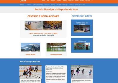 Web del Servicio Municipal de Deportes del Ayto. de Jaca