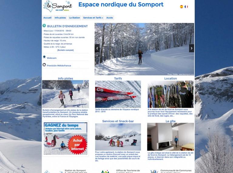 Web del Espace nordique du Somport