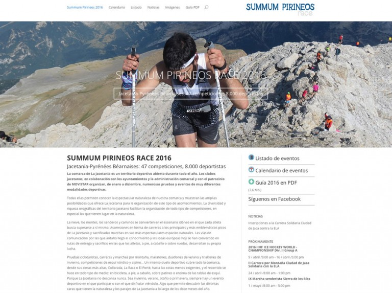 Web de Summum Pirineos Race