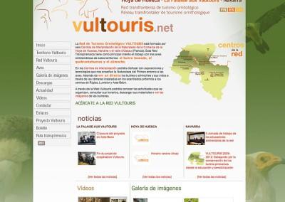 Logotipo del Proyecto de Cooperación Transfronteriza VULTOURIS