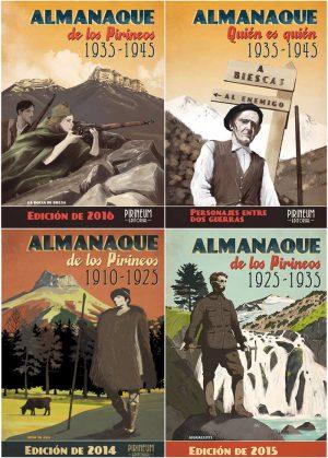 Colección 4 Almanaques de los Pirineos