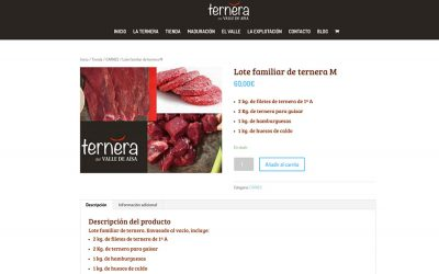 Web y tienda online de Ternera del Valle de Aísa