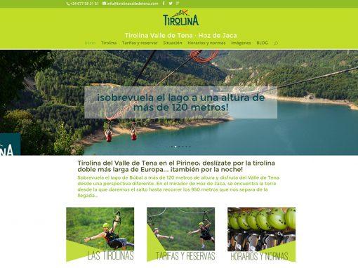 Web de la Tirolina Valle de Tena