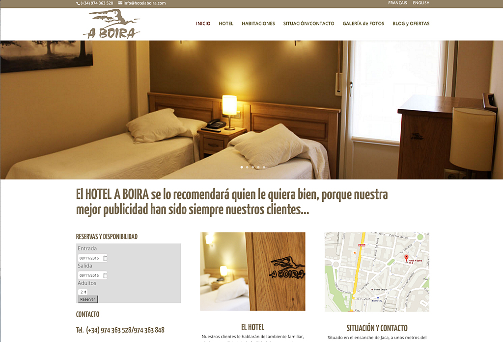 Web del Hotel A Boira Jaca