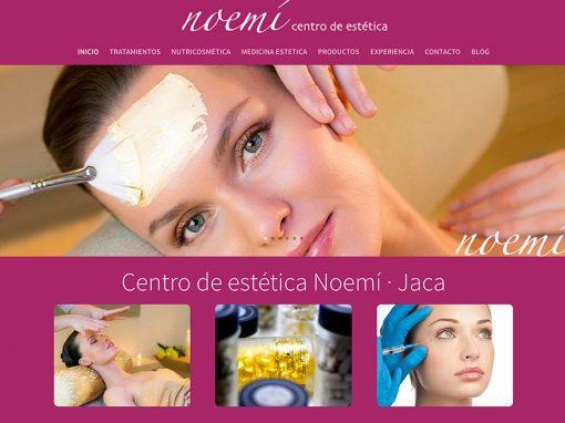 Web Centro de estética Noemí Jaca