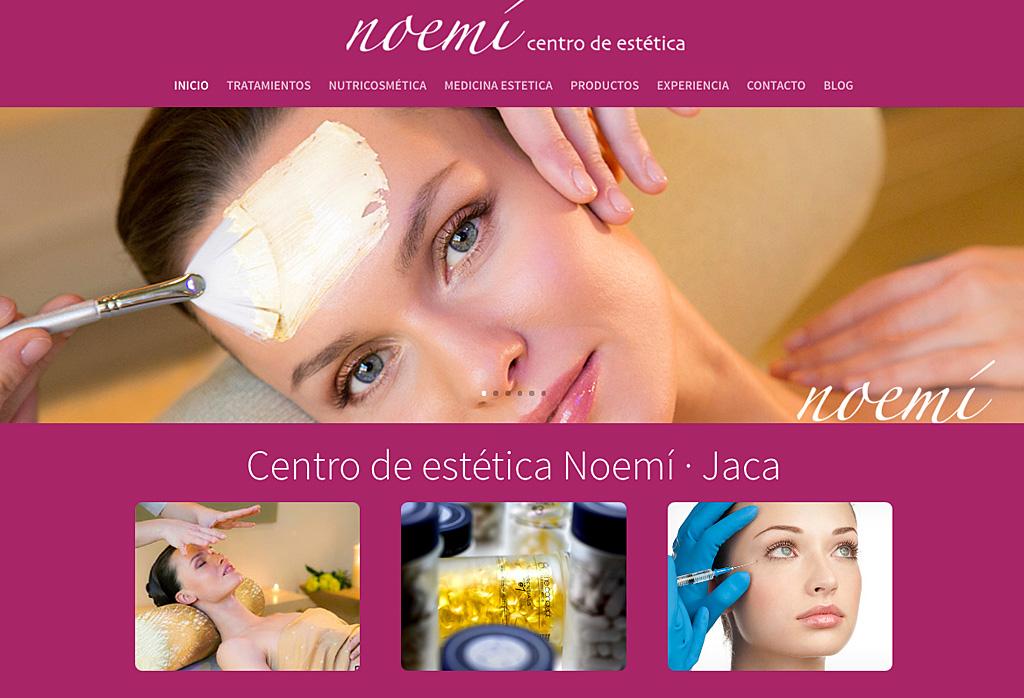 Diseño web en wordpress de centro estética Noemí Jaca