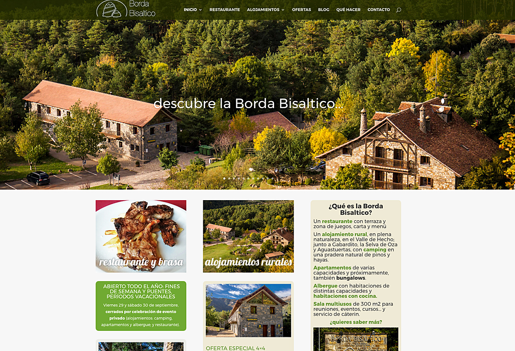 Web en WordPress para Borda Bisaltico