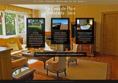 Web en WordPress para alquiler turístico: La Casa de Pico Collarada