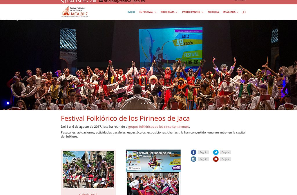 Jaca vivió una vez más un multitudinario Festival Folklórico de los Pirineos