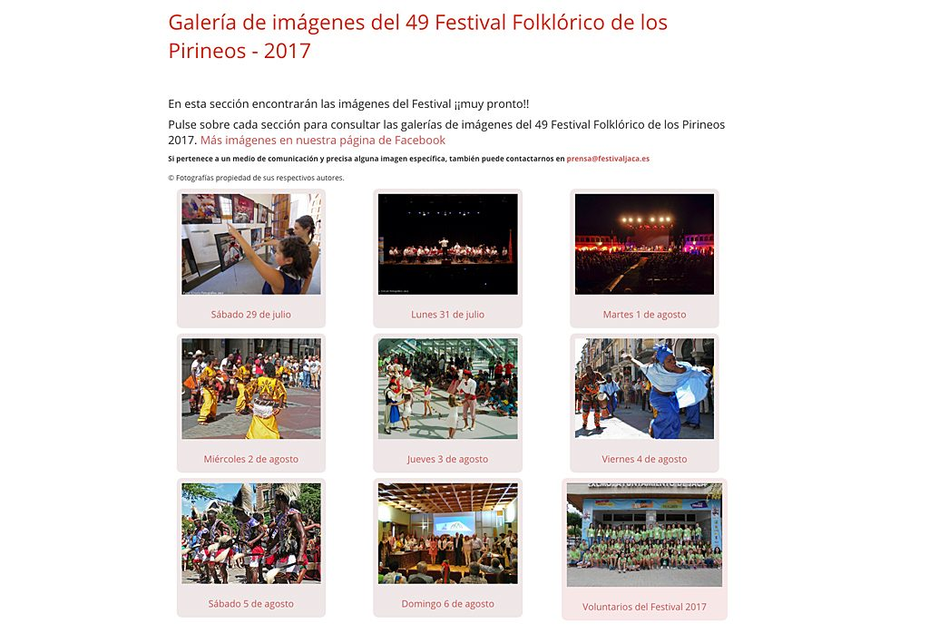 49 Festival Folklórico de los Pirineos - 2017