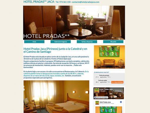Web Hotel Pradas Jaca