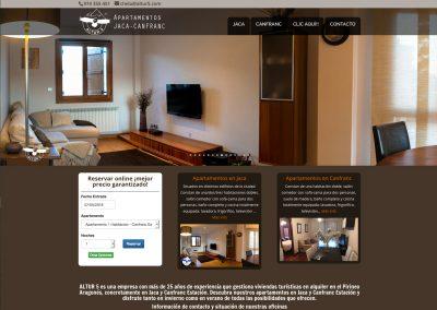 Web de apartamentos ALTUR 5 en Jaca y Canfranc